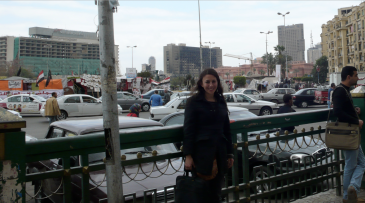 D After the Meeting with AUC Press in Tahrir Square