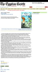 Egyptian Gazette Article