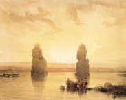 David Roberts - Colossi Of Memnon At Dawn