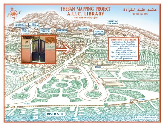 Map For The Theban Mapping Project Library Luxor Egypt Nature